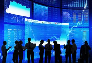Silhouette-of-Stock-Market-Discussion